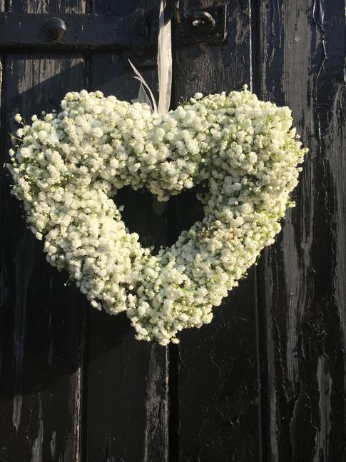 Wedding flowers Gypsophila heart