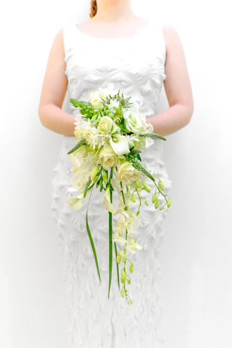 Wedding Flowers Ivory part wired bouquet