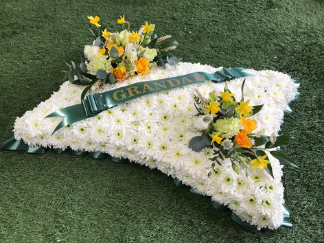 Pillow funeral flowers