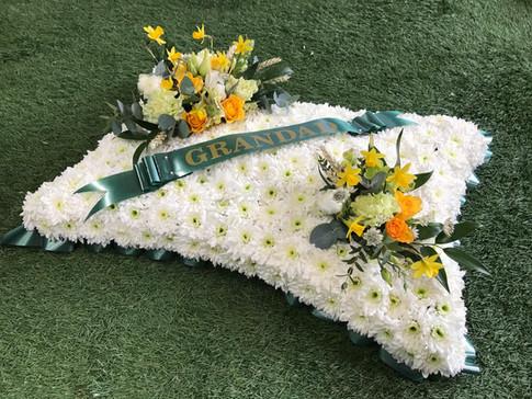 Pillow funeral flowers