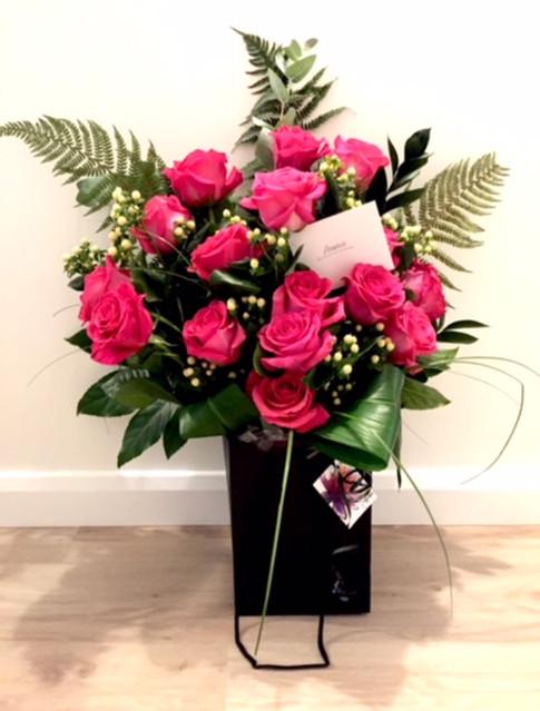 Romatic rose aqua bouquet
