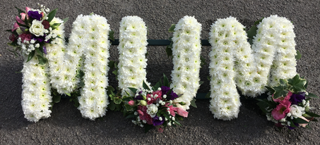 MUM Ivy edged funeral letters