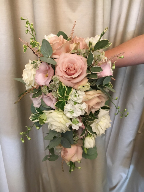 Wedding flowers Blush and white wedding bouquet