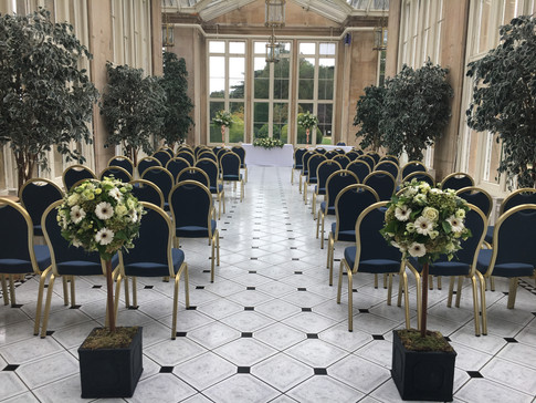 Wedding Isle Flower decoration