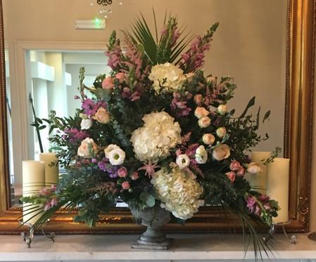 Wedding flowers Pedestal flowers