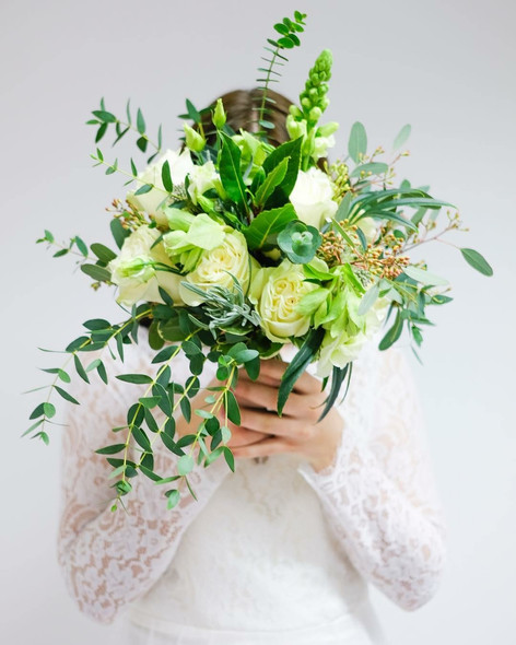 Wedding flowers White hand tied bouquet