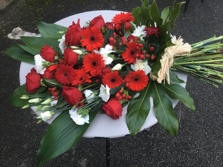 Large red and white sheaf