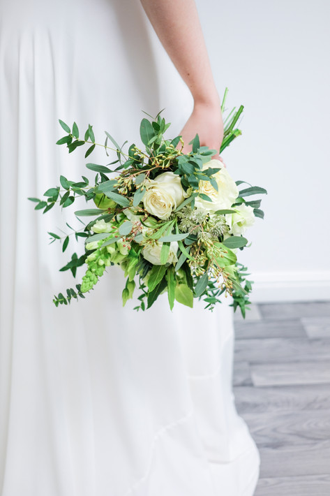 Wedding flowers Bridesmaid's hand tied bouquet