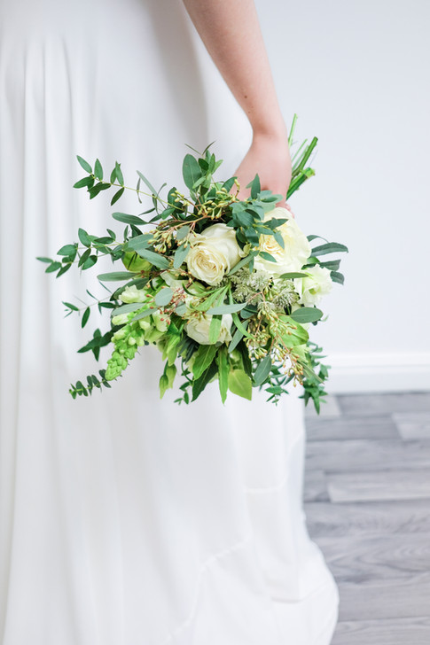 Wedding flowers Bridesmaid's hand tied bouquet