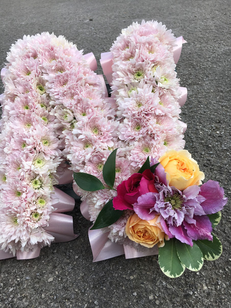 Funeral letter with spray