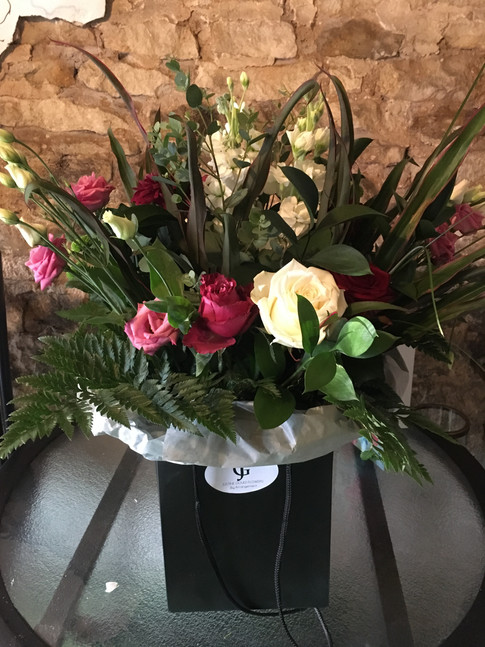 Aqua pack bouquets delivered