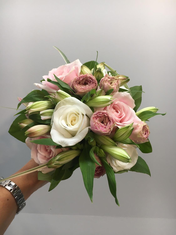 Blush wedding Hand tied bouquet