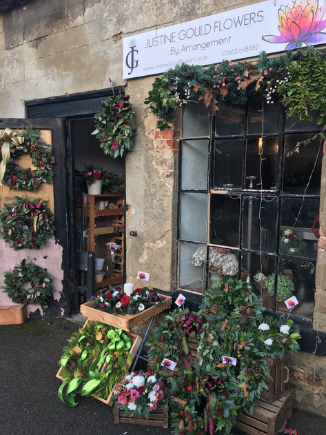 Florist's Workshop at Christmas