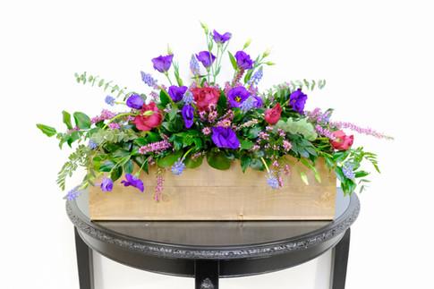 Floral crate arrangement