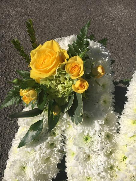 Funeral Letter Spray