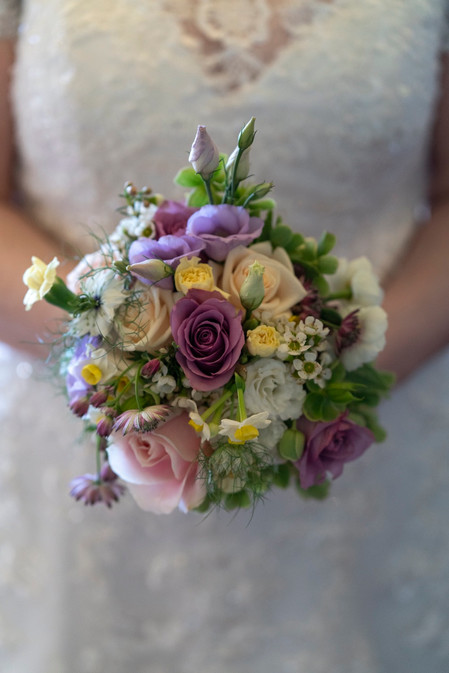 Wedding flowers Spring hand tied wedding bouquet