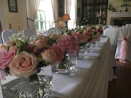 Wedding Flowers Roses in cube vase