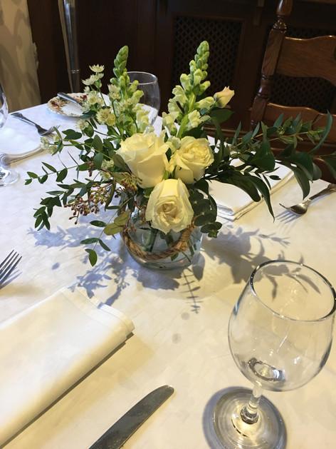 Rustic vase table arrangement