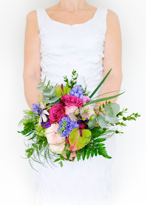 Wedding Flowers Compact hand tied bouquet