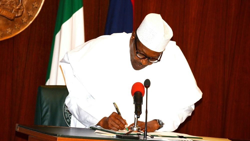 Nigerian President Buhari signs Executive Order 7 of 2019