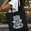 Hand of Fatima Symbol Protection Talisman Tote Bag Cotton Shopping Spiritual White Black designs Gift Carry casual boho over