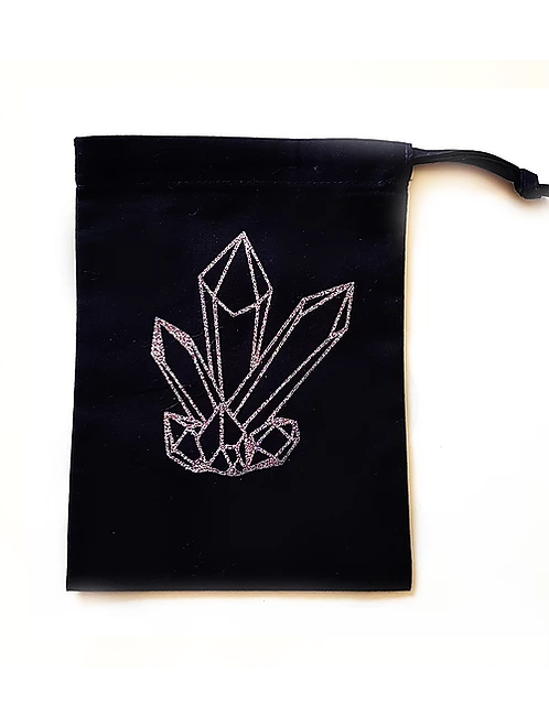 Crystal Tarot bag for storing tarot, angel cards or crystals for divination