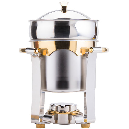8 Qt. Round Top Stainless Steel Soup Chafer