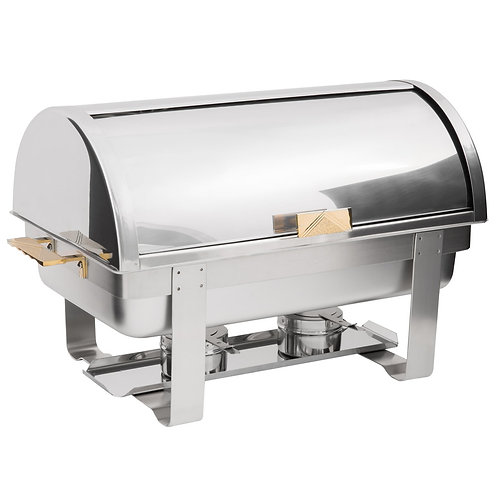 Roll Top Stainless Steel Chafer