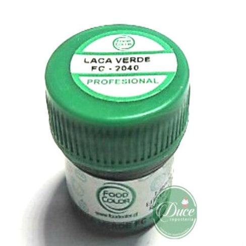Laca Chocolate Verde Food Color, 20 grs.