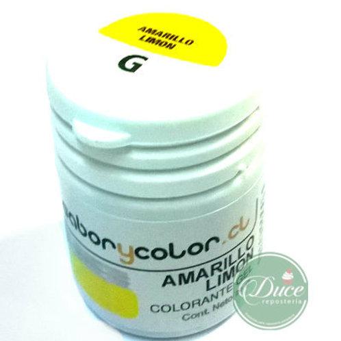 Colorante Gel Amarillo Limón Sabor y Color, 20 grs.
