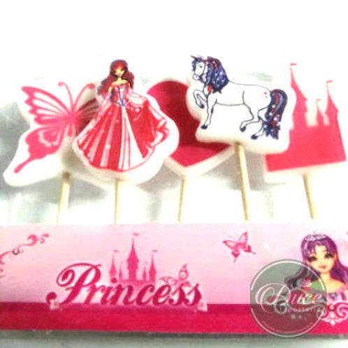Velas Princesas, 5 unidades