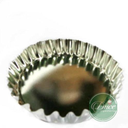 Molde Tartaleta Aluminio Rizada N° 9