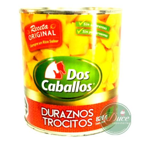Conserva Durazno Trocitos Dos Caballos, 12x820 Grs.