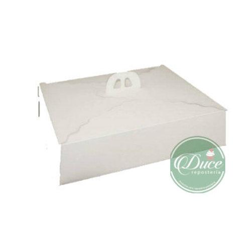 Caja Porta Torta Rectangular Blanco