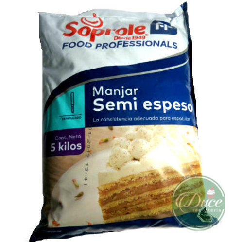 Manjar Soprole Semi espeso, 5 Kgs.