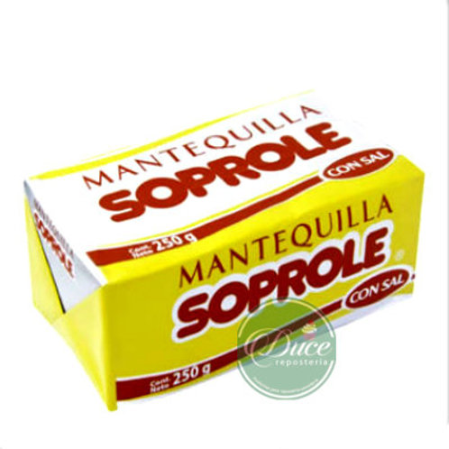 Mantequilla Soprole SIN SAL, 250 Grs.