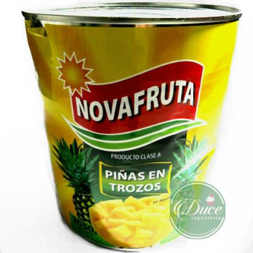 Conserva Piña Trocito Novafruta, 3 Kgs.