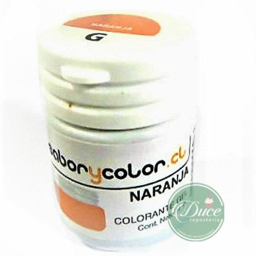 Colorante Gel Naranja Sabor y Color, 20 grs.