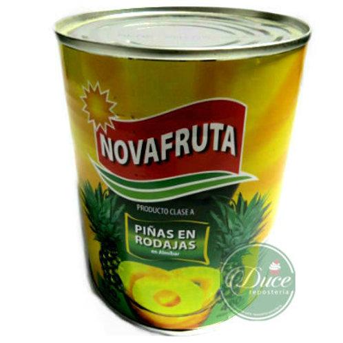 Conserva Piña Rodaja Novafruta, 24x820 Grs.