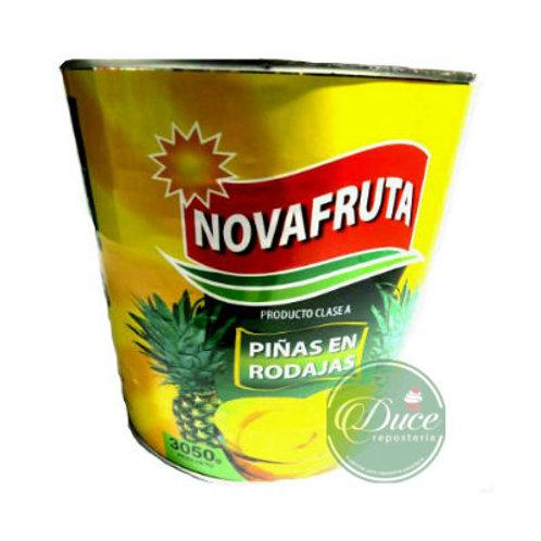 Conserva Piña Rodaja Novafruta, 3 Kgs.
