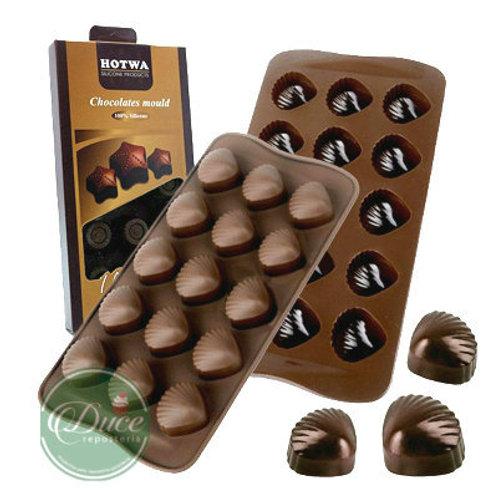 Molde Chocolate Silicona Cajita Andreu