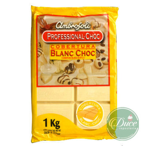 Cobertura Ambrosoli Blanc Choc, 1 Kg.