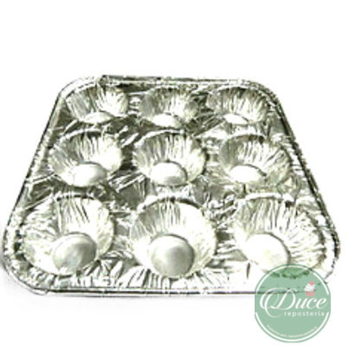 Molde Aluminio Mini Cupcake, 9 unidades
