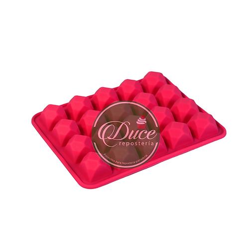 Molde silicona bombones cuadrados
