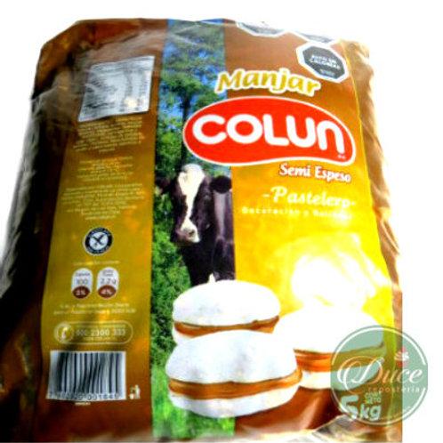 Manjar Semiespeso Colún, 5 Kgs.