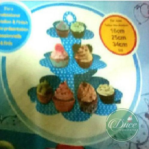 Exhibidor Cartón Cupcakes Diseños