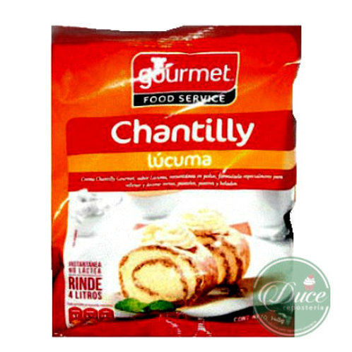 Base Crema Chantilly/Lúcuma Gourmet, 370 Grs.