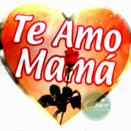 Etiqueta Corazón Mamá