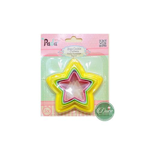 Corta galleta estrella 3 unid.
