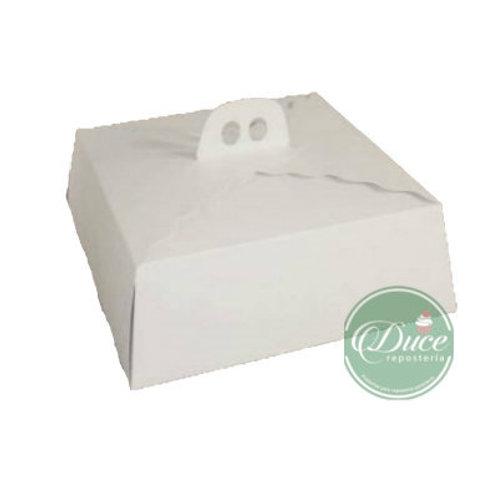 Caja Porta Torta Chica Blanca